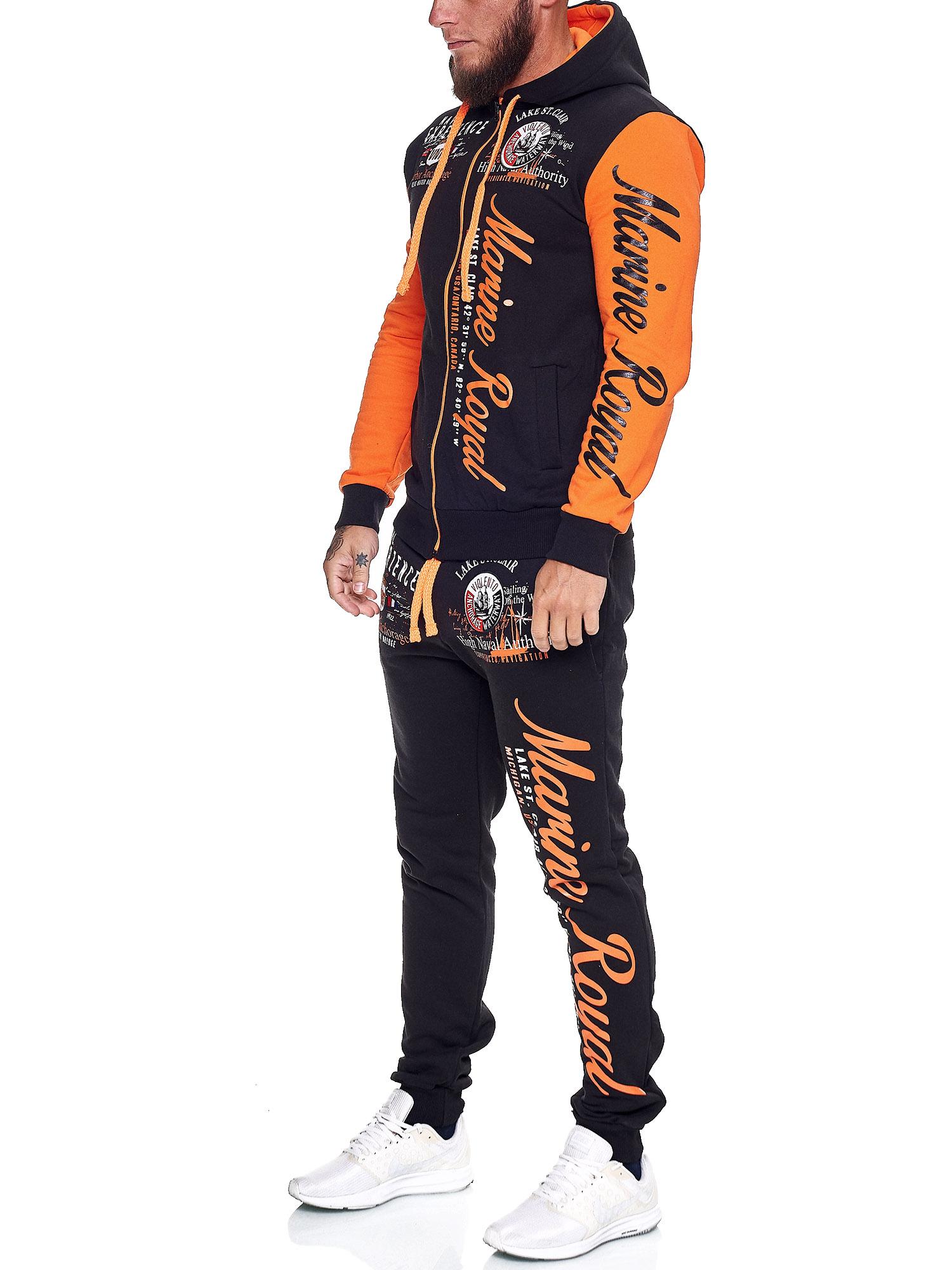 Damen-Jogginganzug-Frauen-Trainingsanzug-Sportanzug-Streetwear-JG-512-John-Kayna Indexbild 32