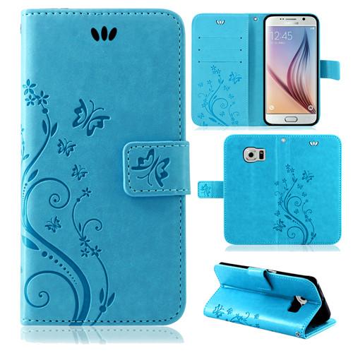 Samsung-Handy-Tasche-Handyhuelle-Schutz-Huelle-Blumen-Flip-Cover-Buch-Case-Etui Indexbild 44
