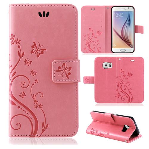 Samsung-Handy-Tasche-Handyhuelle-Schutz-Huelle-Blumen-Flip-Cover-Buch-Case-Etui Indexbild 47