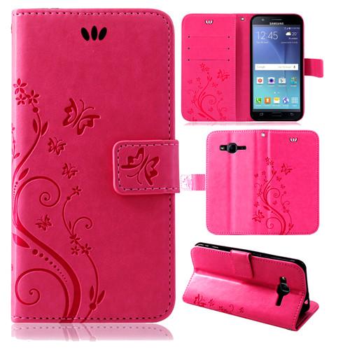 Samsung-Handy-Tasche-Handyhuelle-Schutz-Huelle-Blumen-Flip-Cover-Buch-Case-Etui Indexbild 160