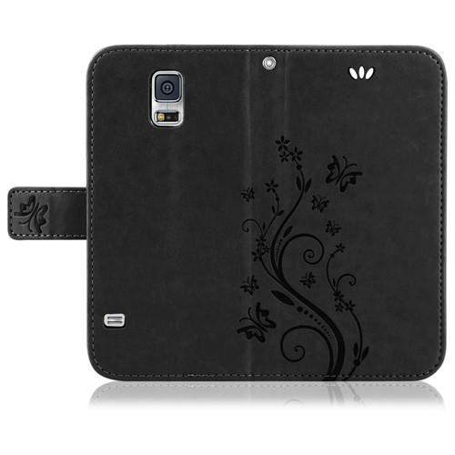Samsung-Handy-Tasche-Handyhuelle-Schutz-Huelle-Blumen-Flip-Cover-Buch-Case-Etui Indexbild 41