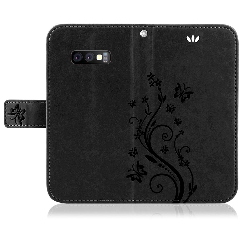 Samsung-Handy-Tasche-Handyhuelle-Schutz-Huelle-Blumen-Flip-Cover-Buch-Case-Etui Indexbild 95