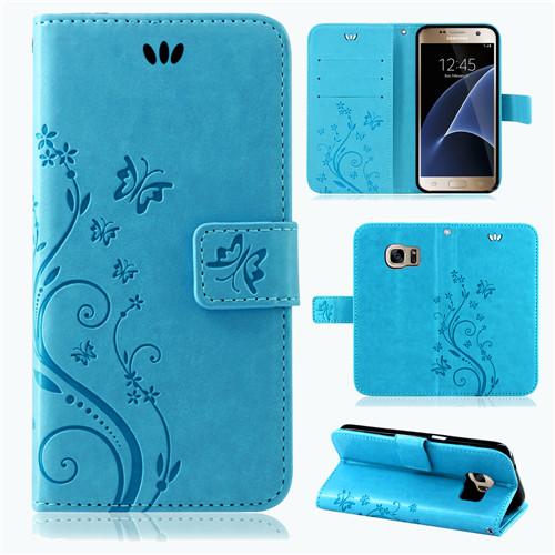 Samsung-Handy-Tasche-Handyhuelle-Schutz-Huelle-Blumen-Flip-Cover-Buch-Case-Etui Indexbild 54