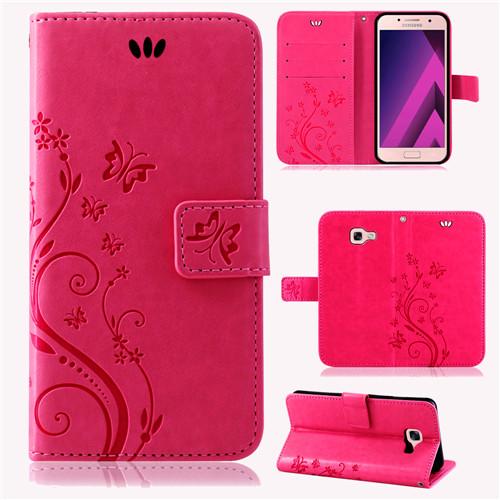 Samsung-Handy-Tasche-Handyhuelle-Schutz-Huelle-Blumen-Flip-Cover-Buch-Case-Etui Indexbild 110