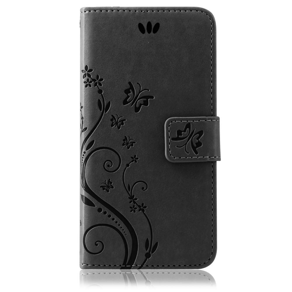 Samsung-Handy-Tasche-Handyhuelle-Schutz-Huelle-Blumen-Flip-Cover-Buch-Case-Etui Indexbild 84