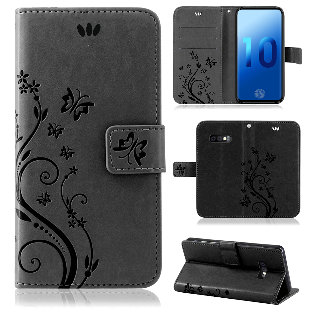 Samsung-Handy-Tasche-Handyhuelle-Schutz-Huelle-Blumen-Flip-Cover-Buch-Case-Etui Indexbild 93