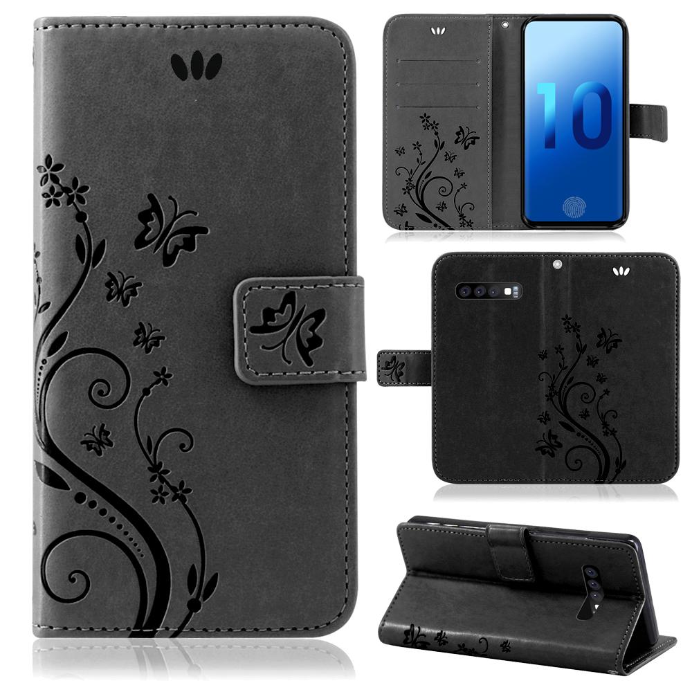 Samsung-Handy-Tasche-Handyhuelle-Schutz-Huelle-Blumen-Flip-Cover-Buch-Case-Etui Indexbild 83