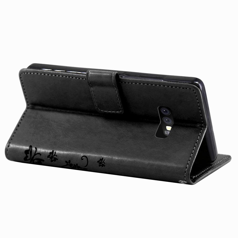 Samsung-Handy-Tasche-Handyhuelle-Schutz-Huelle-Blumen-Flip-Cover-Buch-Case-Etui Indexbild 96
