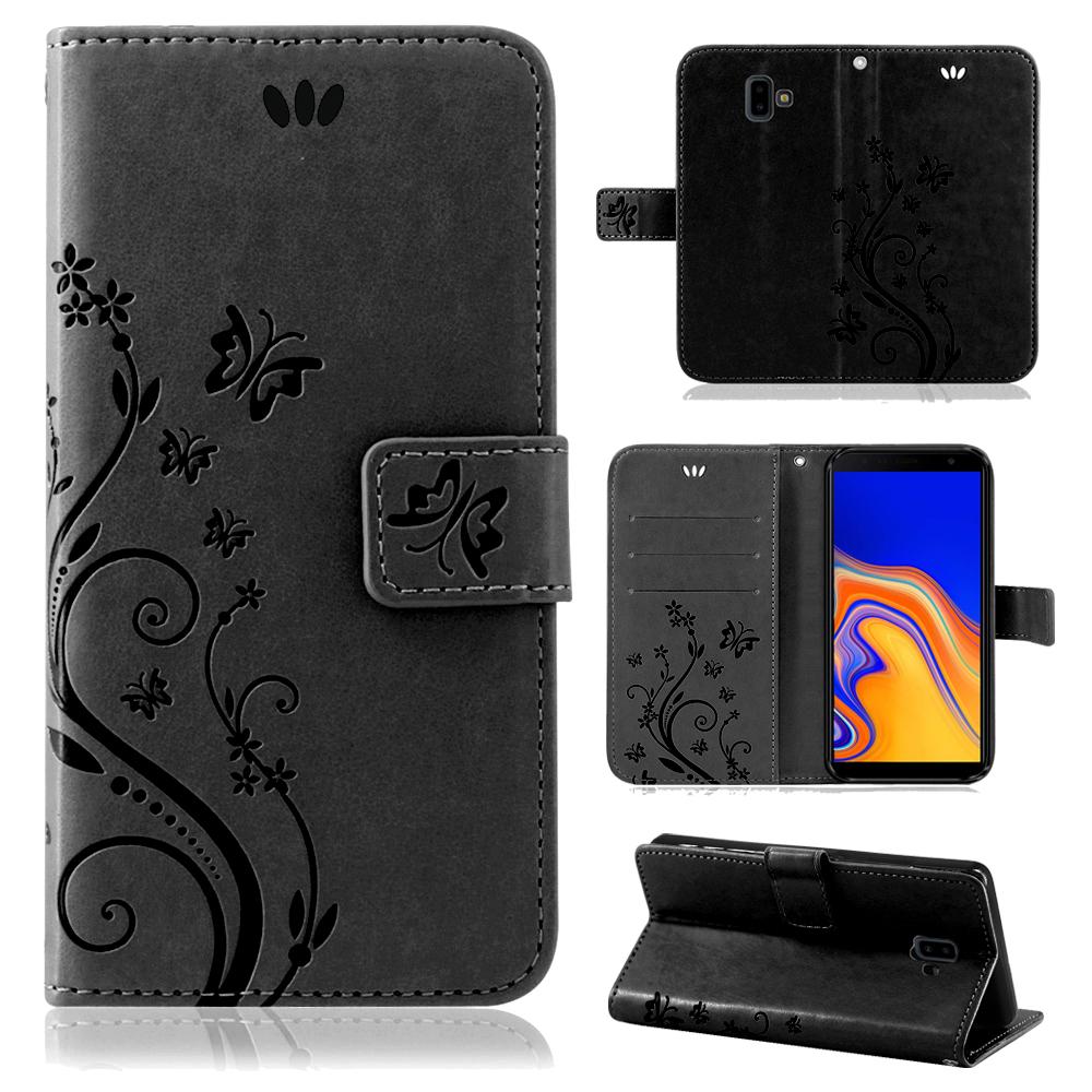 Samsung-Handy-Tasche-Handyhuelle-Schutz-Huelle-Blumen-Flip-Cover-Buch-Case-Etui Indexbild 183