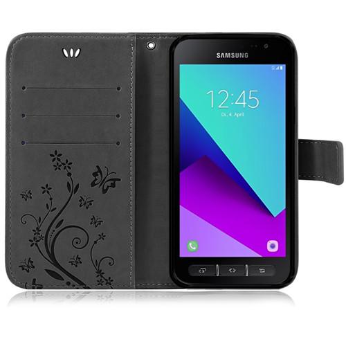 Samsung-Handy-Tasche-Handyhuelle-Schutz-Huelle-Blumen-Flip-Cover-Buch-Case-Etui Indexbild 200