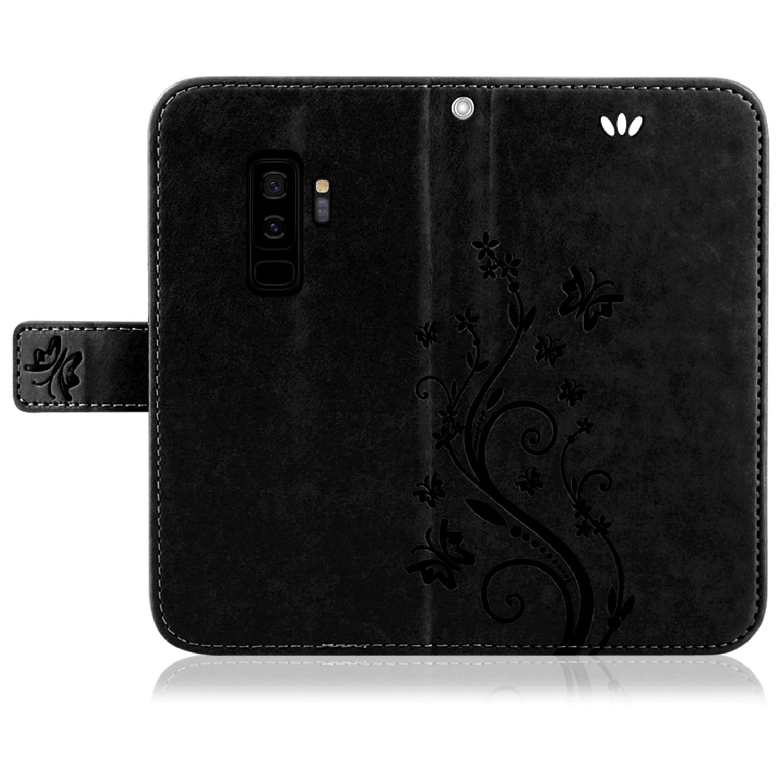 Samsung-Handy-Tasche-Handyhuelle-Schutz-Huelle-Blumen-Flip-Cover-Buch-Case-Etui Indexbild 80