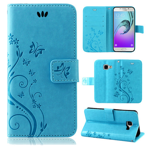 Samsung-Handy-Tasche-Handyhuelle-Schutz-Huelle-Blumen-Flip-Cover-Buch-Case-Etui Indexbild 104