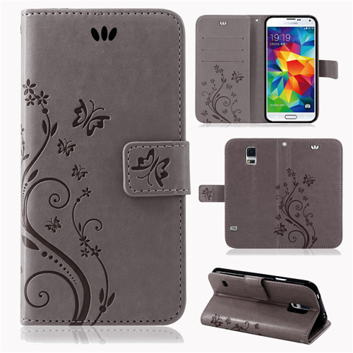 Samsung-Handy-Tasche-Handyhuelle-Schutz-Huelle-Blumen-Flip-Cover-Buch-Case-Etui Indexbild 36