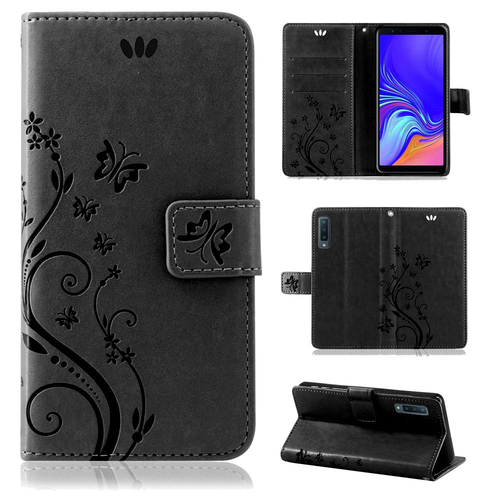 Samsung-Handy-Tasche-Handyhuelle-Schutz-Huelle-Blumen-Flip-Cover-Buch-Case-Etui Indexbild 133