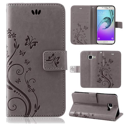 Samsung-Handy-Tasche-Handyhuelle-Schutz-Huelle-Blumen-Flip-Cover-Buch-Case-Etui Indexbild 106