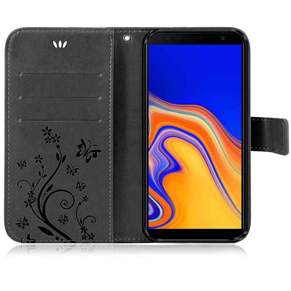 Samsung-Handy-Tasche-Handyhuelle-Schutz-Huelle-Blumen-Flip-Cover-Buch-Case-Etui Indexbild 177
