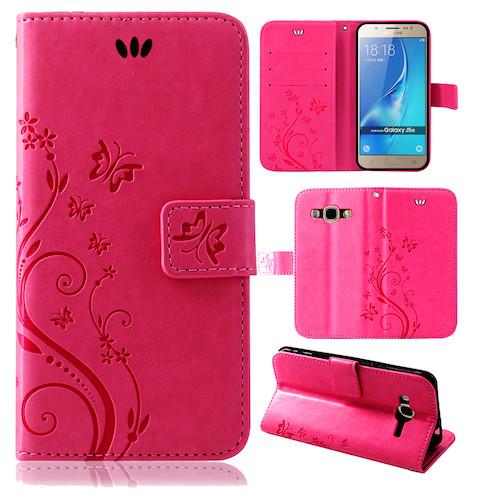 Samsung-Handy-Tasche-Handyhuelle-Schutz-Huelle-Blumen-Flip-Cover-Buch-Case-Etui Indexbild 165