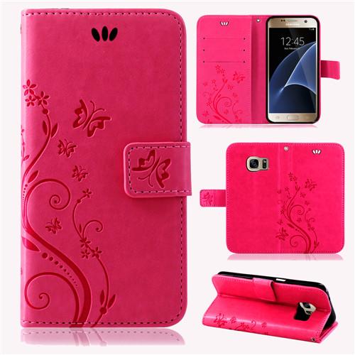 Samsung-Handy-Tasche-Handyhuelle-Schutz-Huelle-Blumen-Flip-Cover-Buch-Case-Etui Indexbild 55