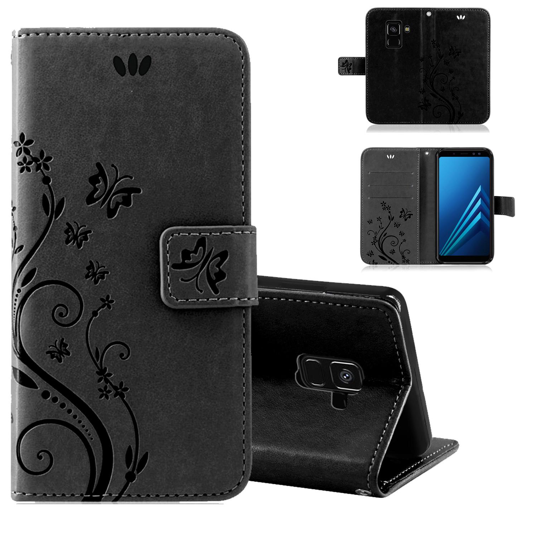 Samsung-Handy-Tasche-Handyhuelle-Schutz-Huelle-Blumen-Flip-Cover-Buch-Case-Etui Indexbild 138