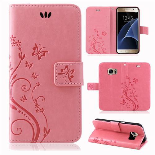 Samsung-Handy-Tasche-Handyhuelle-Schutz-Huelle-Blumen-Flip-Cover-Buch-Case-Etui Indexbild 57