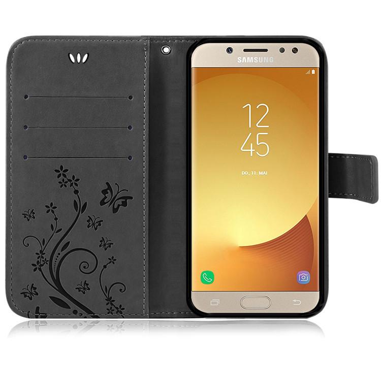 Samsung-Handy-Tasche-Handyhuelle-Schutz-Huelle-Blumen-Flip-Cover-Buch-Case-Etui Indexbild 169