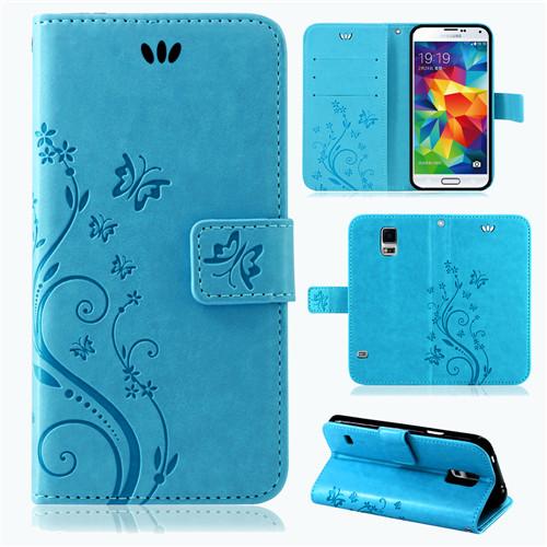 Samsung-Handy-Tasche-Handyhuelle-Schutz-Huelle-Blumen-Flip-Cover-Buch-Case-Etui Indexbild 34