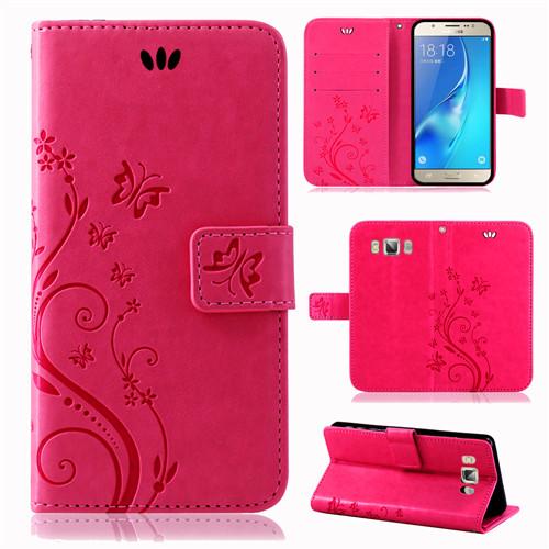 Samsung-Handy-Tasche-Handyhuelle-Schutz-Huelle-Blumen-Flip-Cover-Buch-Case-Etui Indexbild 190