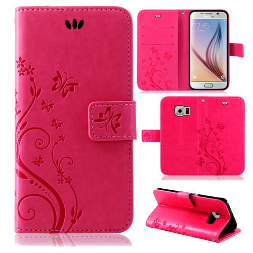 Samsung-Handy-Tasche-Handyhuelle-Schutz-Huelle-Blumen-Flip-Cover-Buch-Case-Etui Indexbild 45