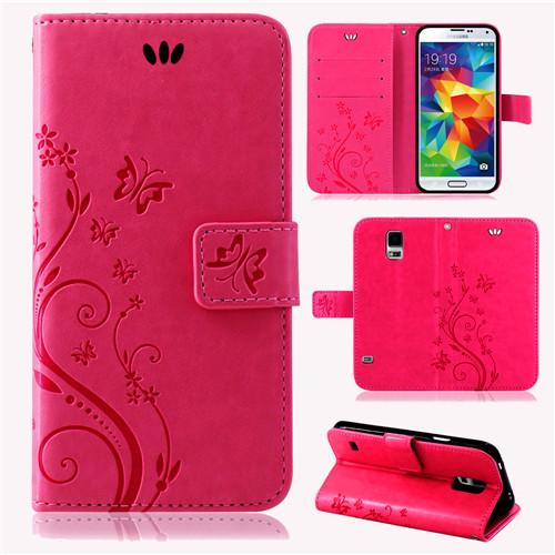 Samsung-Handy-Tasche-Handyhuelle-Schutz-Huelle-Blumen-Flip-Cover-Buch-Case-Etui Indexbild 35