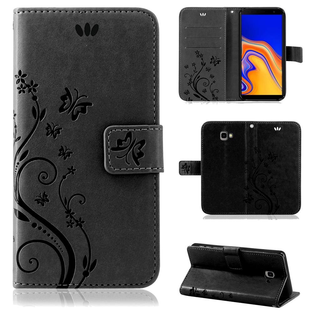 Samsung-Handy-Tasche-Handyhuelle-Schutz-Huelle-Blumen-Flip-Cover-Buch-Case-Etui Indexbild 173