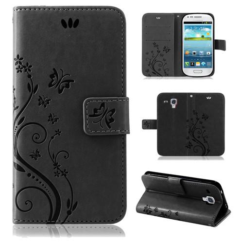 Samsung-Handy-Tasche-Handyhuelle-Schutz-Huelle-Blumen-Flip-Cover-Buch-Case-Etui Indexbild 18
