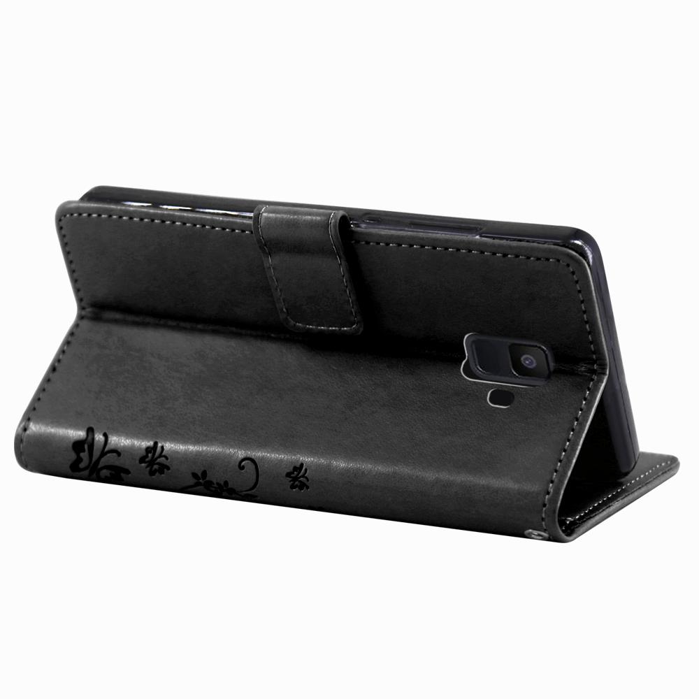 Samsung-Handy-Tasche-Handyhuelle-Schutz-Huelle-Blumen-Flip-Cover-Buch-Case-Etui Indexbild 127