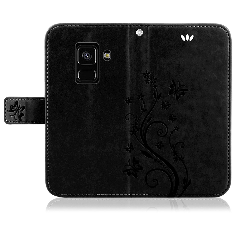 Samsung-Handy-Tasche-Handyhuelle-Schutz-Huelle-Blumen-Flip-Cover-Buch-Case-Etui Indexbild 140