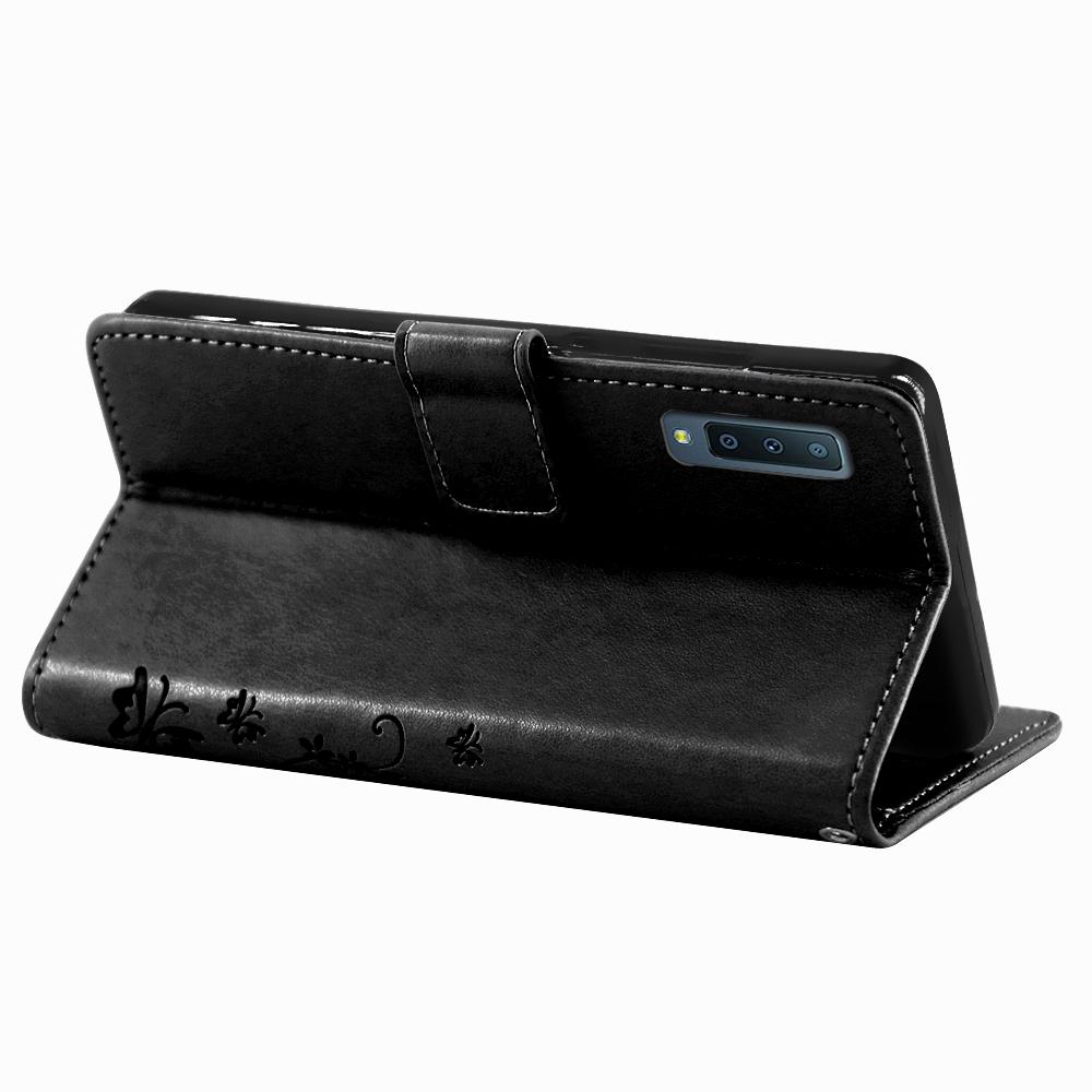 Samsung-Handy-Tasche-Handyhuelle-Schutz-Huelle-Blumen-Flip-Cover-Buch-Case-Etui Indexbild 135