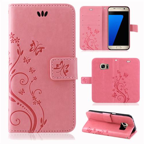 Samsung-Handy-Tasche-Handyhuelle-Schutz-Huelle-Blumen-Flip-Cover-Buch-Case-Etui Indexbild 62
