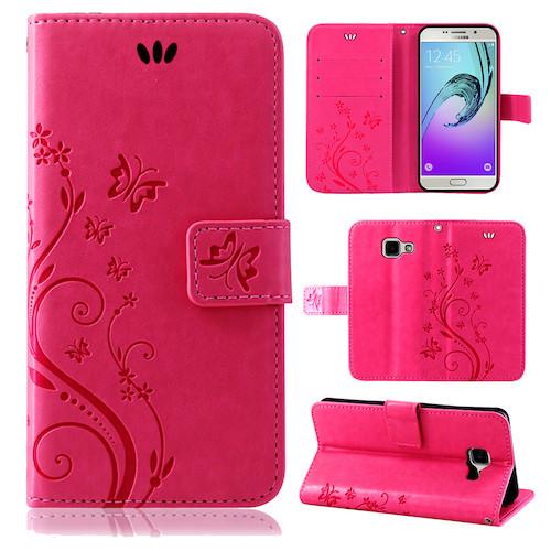Samsung-Handy-Tasche-Handyhuelle-Schutz-Huelle-Blumen-Flip-Cover-Buch-Case-Etui Indexbild 105