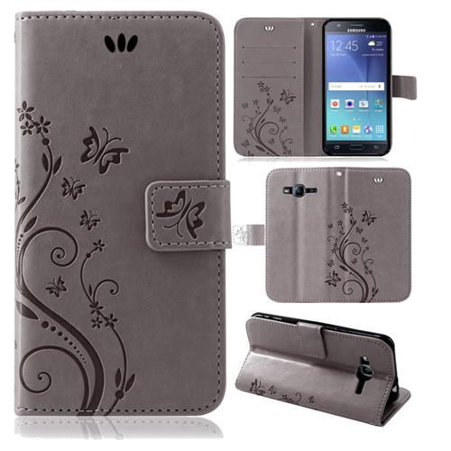 Samsung-Handy-Tasche-Handyhuelle-Schutz-Huelle-Blumen-Flip-Cover-Buch-Case-Etui Indexbild 161