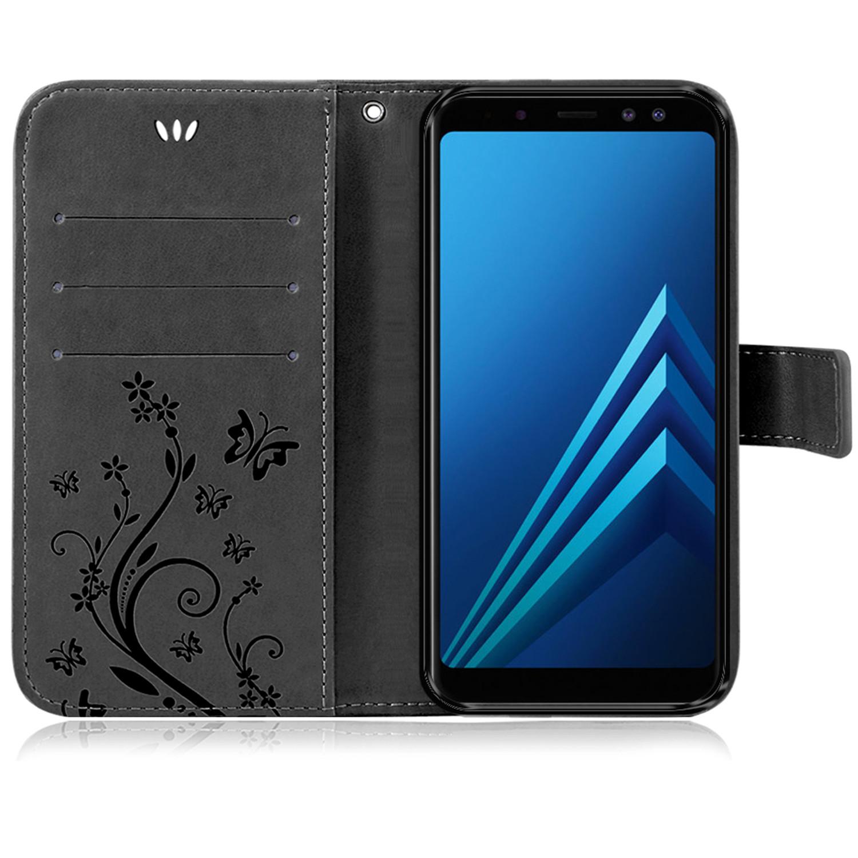 Samsung-Handy-Tasche-Handyhuelle-Schutz-Huelle-Blumen-Flip-Cover-Buch-Case-Etui Indexbild 141