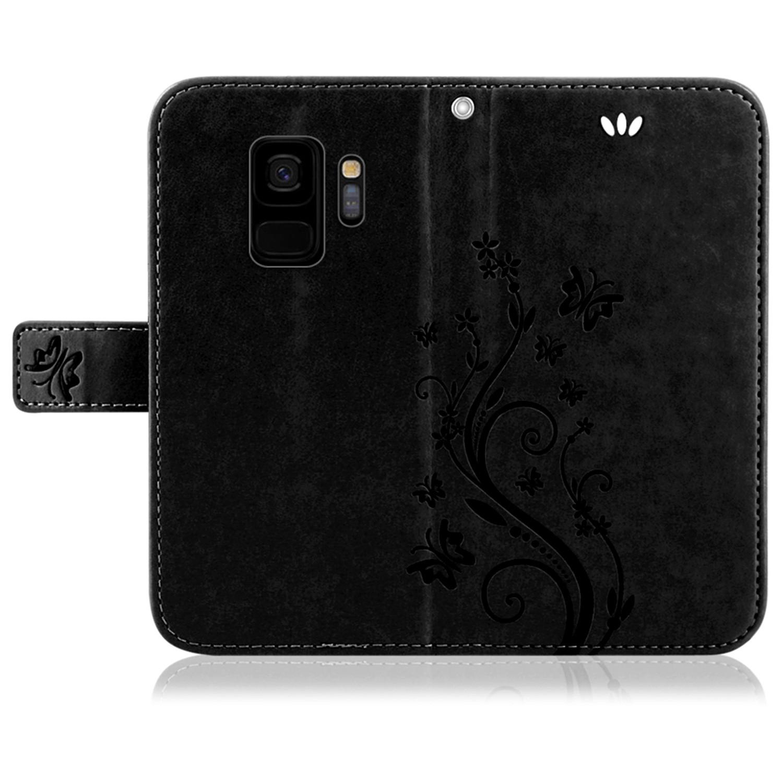 Samsung-Handy-Tasche-Handyhuelle-Schutz-Huelle-Blumen-Flip-Cover-Buch-Case-Etui Indexbild 75
