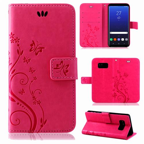 Samsung-Handy-Tasche-Handyhuelle-Schutz-Huelle-Blumen-Flip-Cover-Buch-Case-Etui Indexbild 65