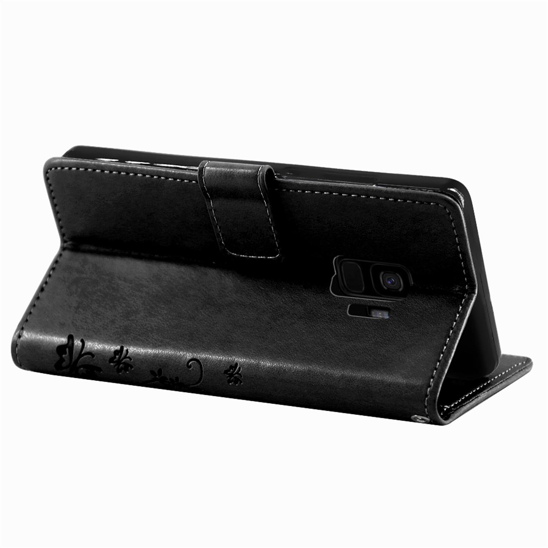 Samsung-Handy-Tasche-Handyhuelle-Schutz-Huelle-Blumen-Flip-Cover-Buch-Case-Etui Indexbild 76