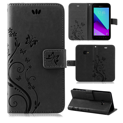 Samsung-Handy-Tasche-Handyhuelle-Schutz-Huelle-Blumen-Flip-Cover-Buch-Case-Etui Indexbild 198