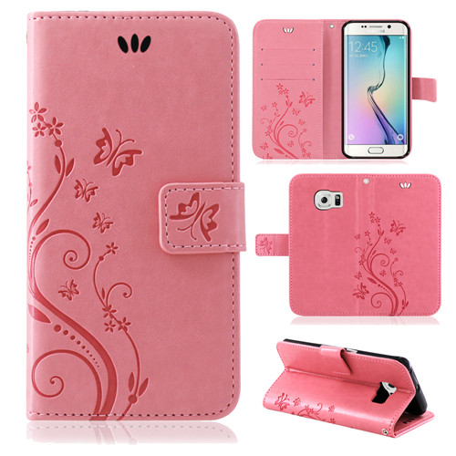 Samsung-Handy-Tasche-Handyhuelle-Schutz-Huelle-Blumen-Flip-Cover-Buch-Case-Etui Indexbild 52