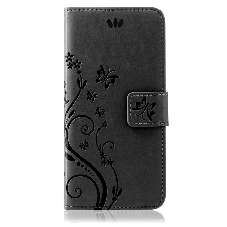 Samsung-Handy-Tasche-Handyhuelle-Schutz-Huelle-Blumen-Flip-Cover-Buch-Case-Etui Indexbild 77