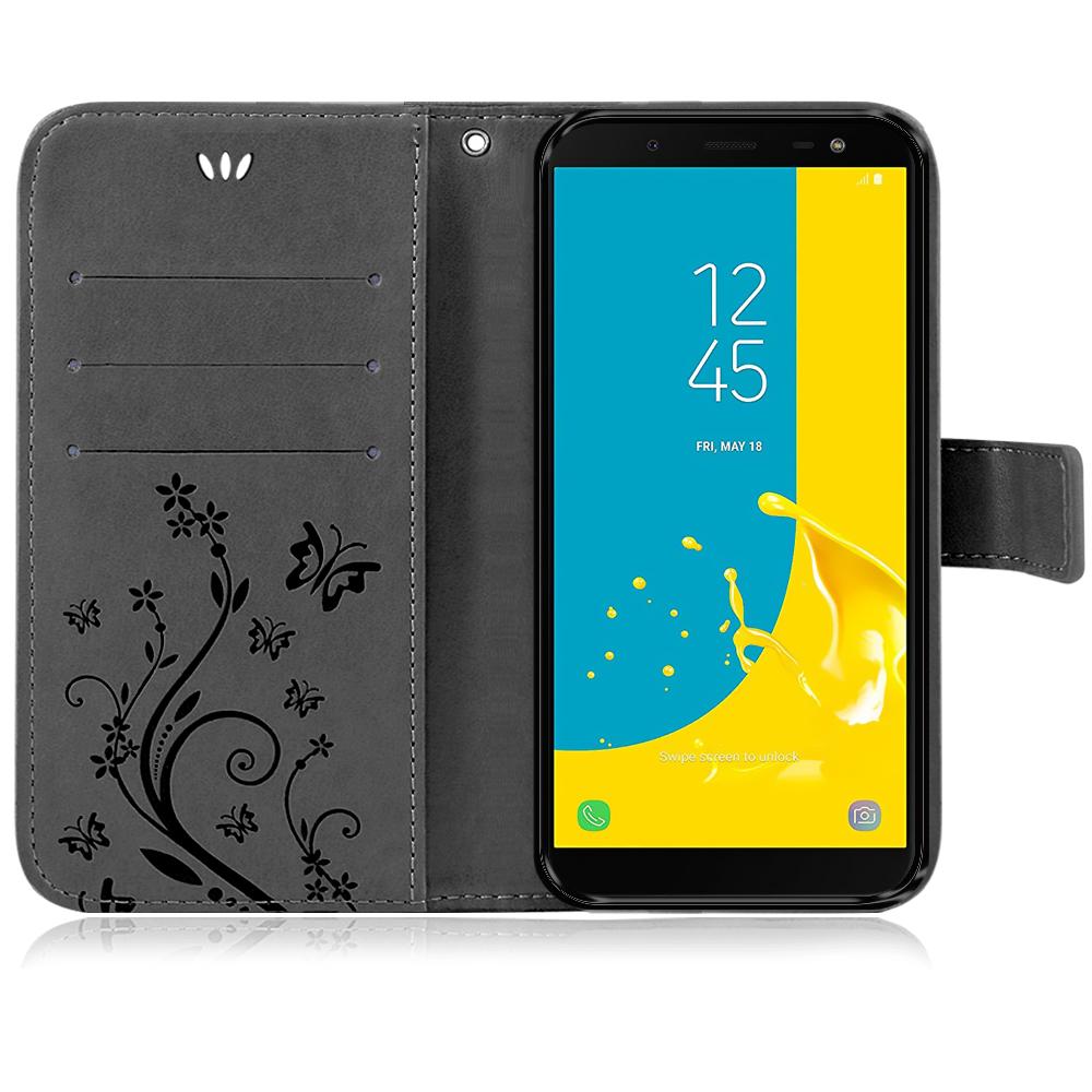 Samsung-Handy-Tasche-Handyhuelle-Schutz-Huelle-Blumen-Flip-Cover-Buch-Case-Etui Indexbild 180