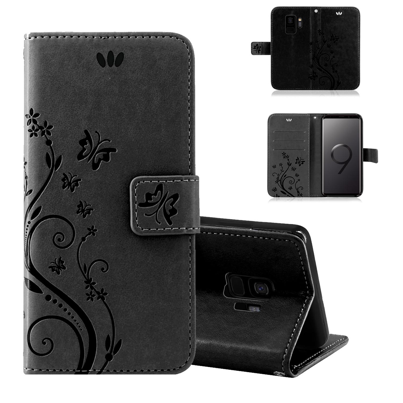 Samsung-Handy-Tasche-Handyhuelle-Schutz-Huelle-Blumen-Flip-Cover-Buch-Case-Etui Indexbild 73