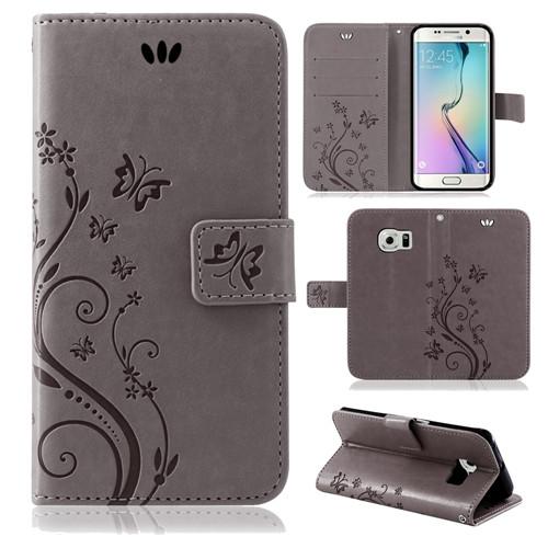 Samsung-Handy-Tasche-Handyhuelle-Schutz-Huelle-Blumen-Flip-Cover-Buch-Case-Etui Indexbild 51