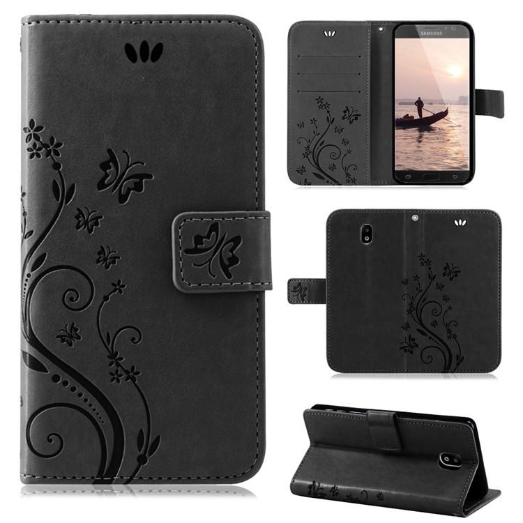 Samsung-Handy-Tasche-Handyhuelle-Schutz-Huelle-Blumen-Flip-Cover-Buch-Case-Etui Indexbild 193