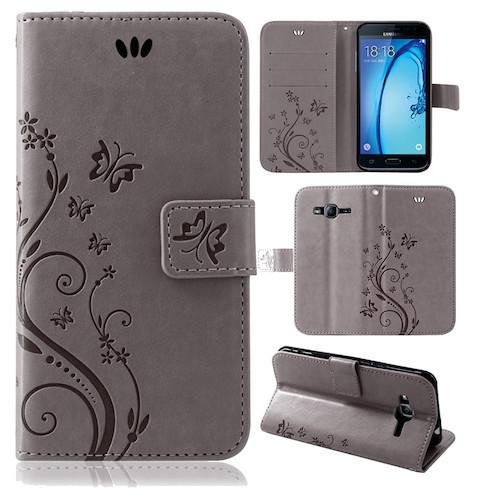 Samsung-Handy-Tasche-Handyhuelle-Schutz-Huelle-Blumen-Flip-Cover-Buch-Case-Etui Indexbild 151