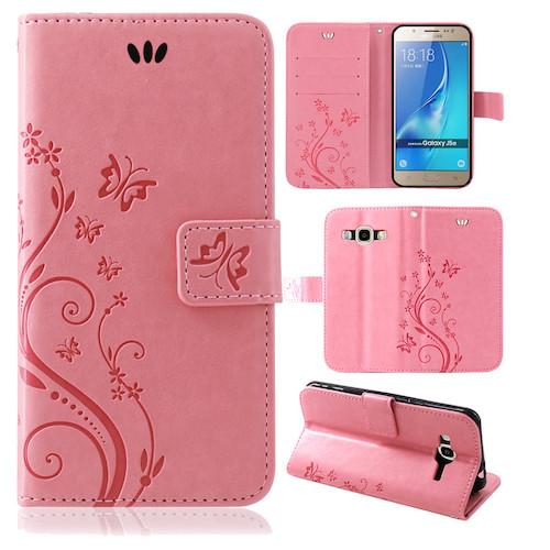 Samsung-Handy-Tasche-Handyhuelle-Schutz-Huelle-Blumen-Flip-Cover-Buch-Case-Etui Indexbild 167